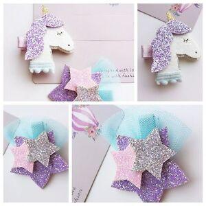 Crafts-Elastic-Girls-Barrettes-Kids-Headwear-Unicorn-Hairpin-Infant-Ribbons