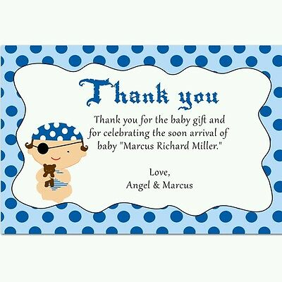 Set of 8 Girl Baby Shower Thank You Cards Maternity Note Cards