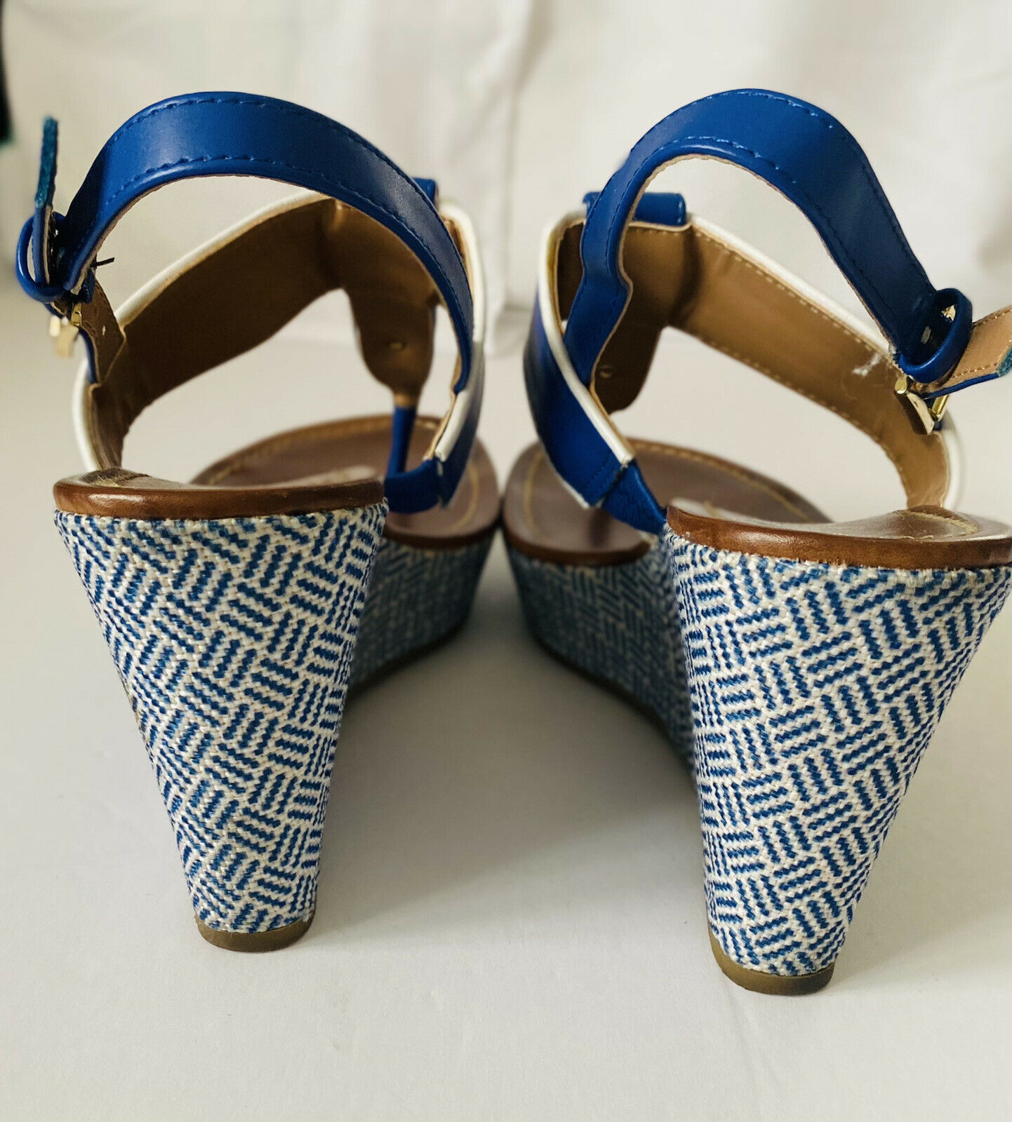 Tommy Hilfiger Women's Size 7.5 M Wedges Navy, - image 3