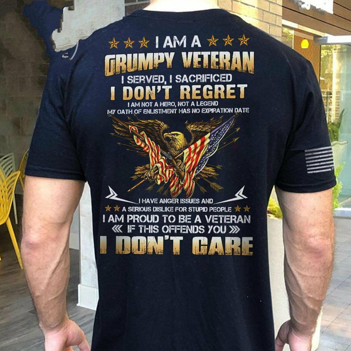 Veteran T-Shirt Backside Soldier Army Eagle Memorial Day Shirt Masswerks Store