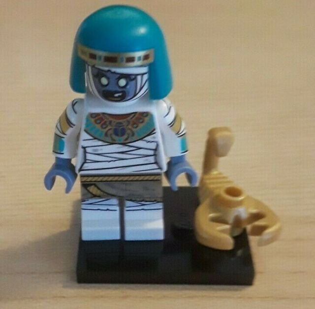 Genuine series 19 lego mini figure MUMMY QUEEN with golden scorpion egyptian