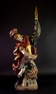 Heiliger-Florian-Holz-geschnitzt-amp-gefasst-68cm