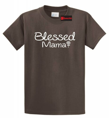 Blessed Mama T Shirt Mom Mothers Day Wife Gift Tee Shirt S-5XL