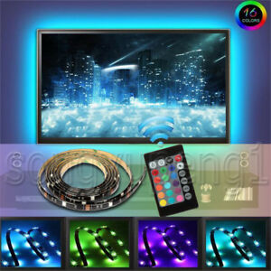 Usb Powered Rgb 5050 Led Light Strip Computer Tv Backlight Remote