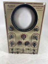 Rare Vintage Heathkit Push Pill Extended Range Oscilloscope Model 0 5