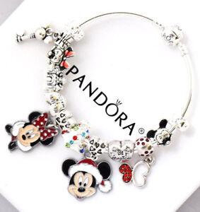 Pandora Christmas Charms.Details About Pandora Bracelet Silver Disney Mickey Minnie Christmas European Charms New