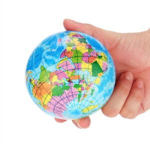 76mm Stress Relief World Map Foam Ball Atlas Globe Palm Ball Planet Earth Ball