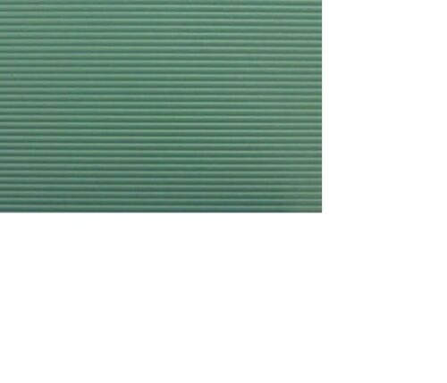 1//Pk #MH5340 12 X 16 Dollhouse Miniatures 1:12 Scale Tin Roof Panel Green