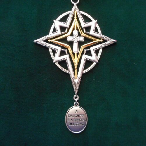 """NEW Cross Memorial Ornament /""""A Daughter is a Blessing/"""" from Ganz"""