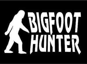 Funny Sasquatch Hunter Big Green American Vinyl US Forest Service Bigfoot DEPT Sticker