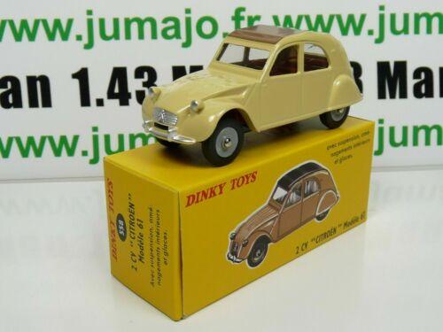 voiture 1//43 réédition DINKY TOYS DeAgostini CITROËN 2 CV modèle 61