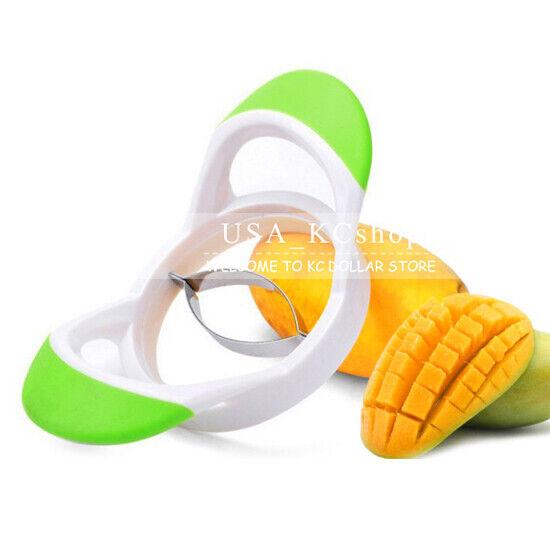 Mango Pitter Stoner Corer Cutter Fruit Chopper Splitter Slicer Kitchen Tool N3