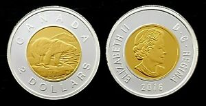 Canada-2016-Gold-Plated-Proof-Gem-Fine-Silver-UNC-Toonie