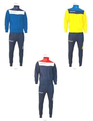 Tuta uomo campo Givova Passeggio palestra fitness blu rosso S M L XL XXL XXXL