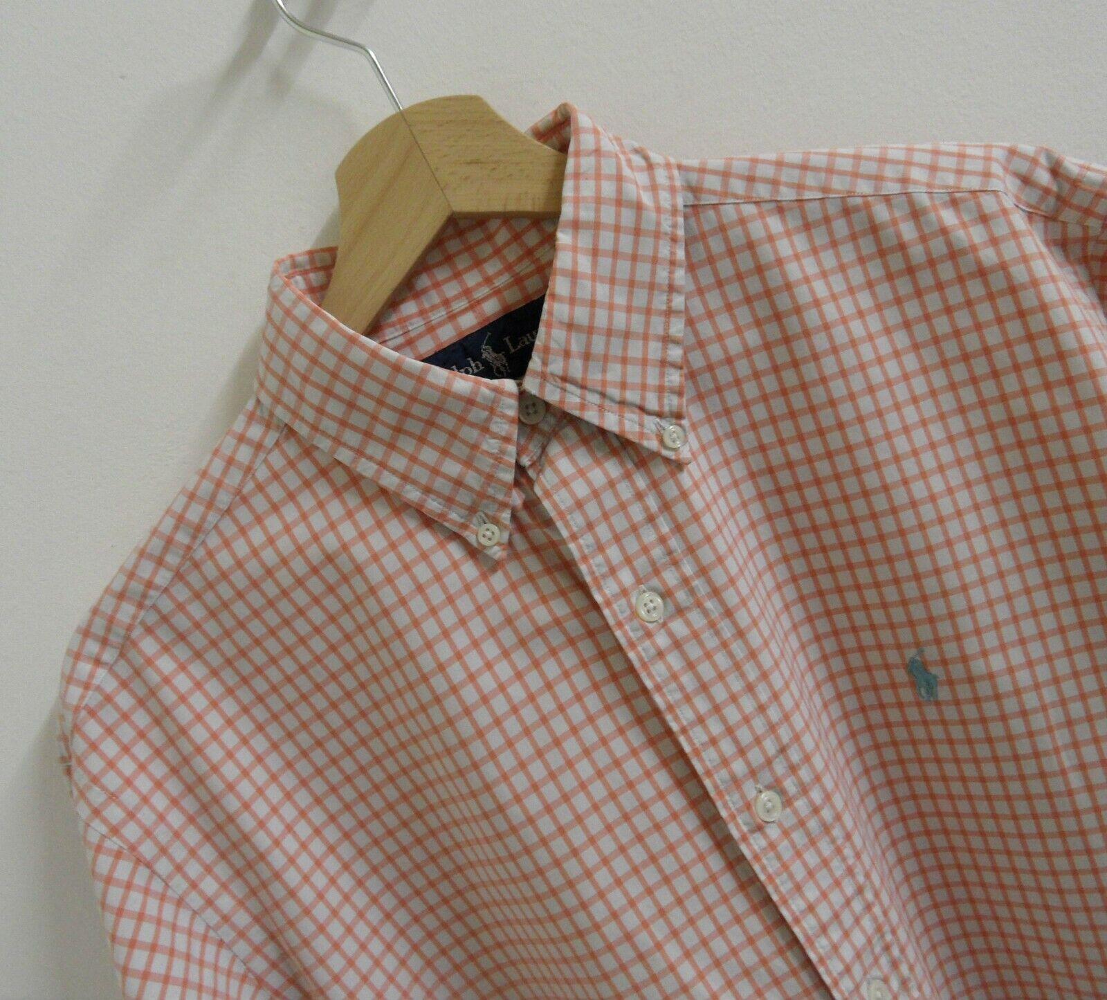 Mens Ralph Lauren Classic Fit Long Sleeve Shirt Size M L   LS661
