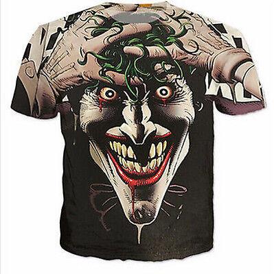 2016 New Fashion Women/Mens Batman The Joker Funny 3D Print Casual T-Shirt KO31