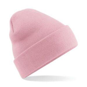 4feeb554957d7 Détails sur Unisexe rose poudrée à revers Toucher Doux Wooly Hat-hiver,  automne, chaud, neige, pluie- afficher le titre d'origine