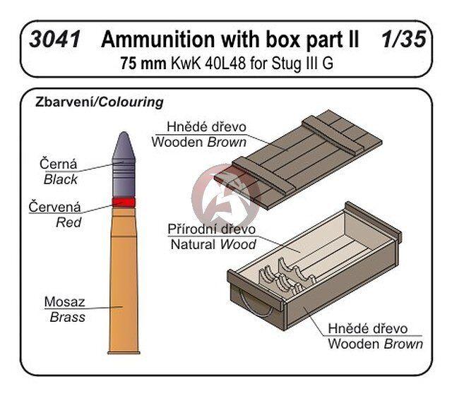 CMK 1/35 #3041 75mm Ammo W/box...