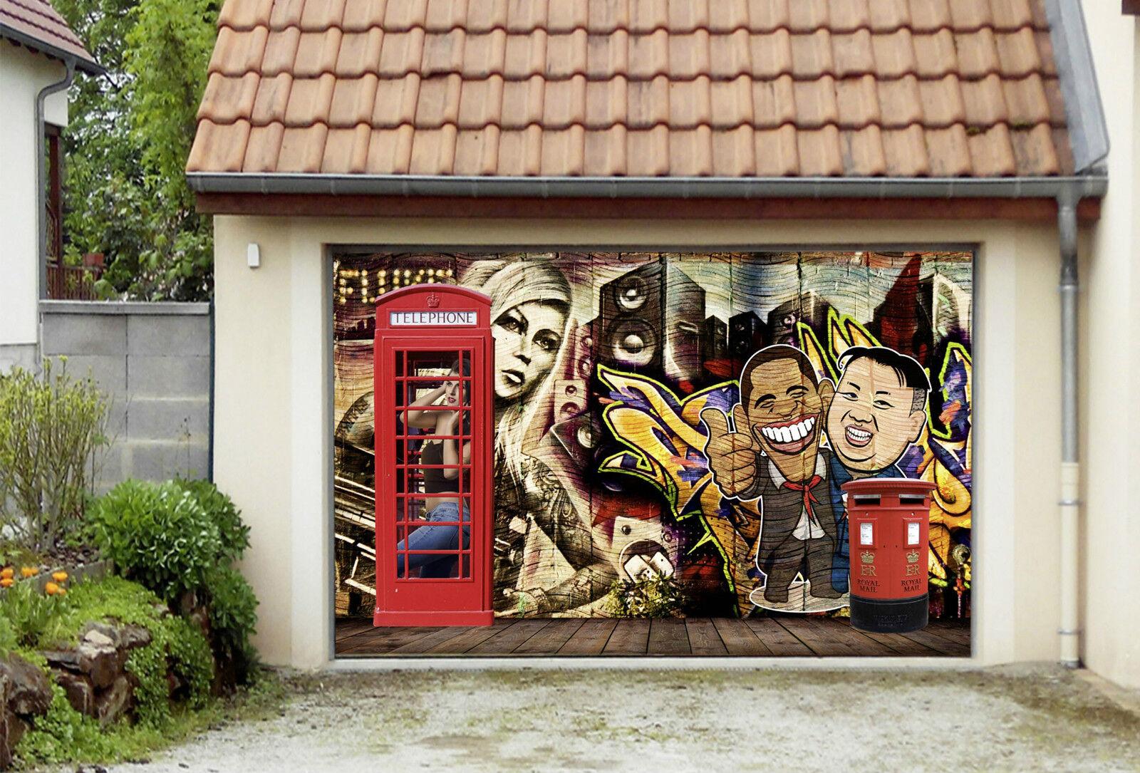 3D Graffiti 552 Garage Porta Stampe Parete Decorazione Murale AJ WALLPAPER IT