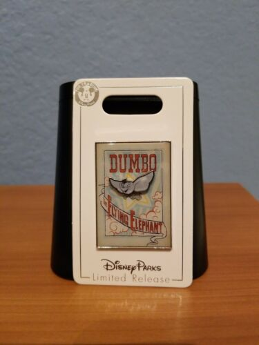 Disney Tim Burton Dumbo The Flying Elephant Movie Circus Poster Pin 2019 LR