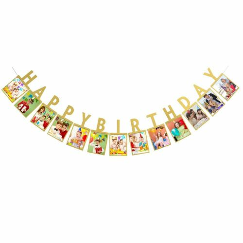 12FT Happy Birthday Photo Banner Birthday Party Buntings Garlands Decorations
