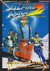 Smart 1996 Namco Alpine Racer 2 Jp Video Flyer Arcade Gaming