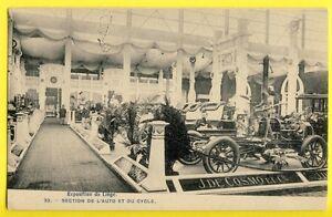 CPA-EXPOSITION-de-LIEGE-1905-Section-de-l-039-Auto-Car-Show-Belgium-STANDS-VOITURE