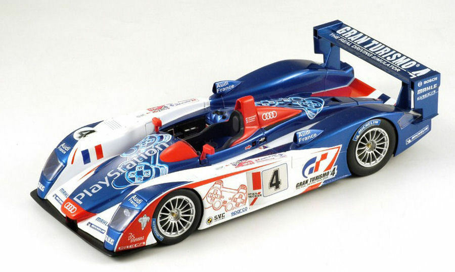 Audi R8 Playstation  4 4th Lm 2005 Montagny   Gounon   Ortelli 1 18 Model