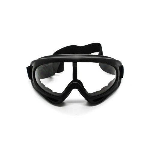 Clear Lens Black Frame Off Road Motocross Dirt Bike ATX Motorcycle Goggles