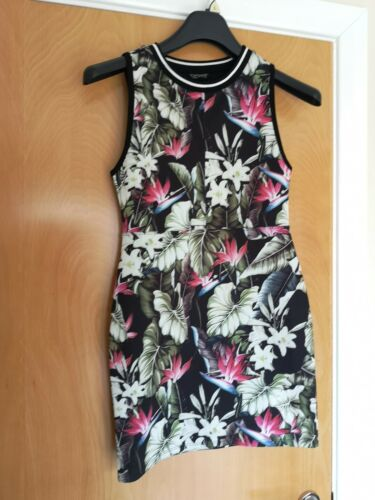 Casual Topshop 10 Party Size Dress Stretch 8 Black Ladies Floral Bodycon Mini 1f7HxH