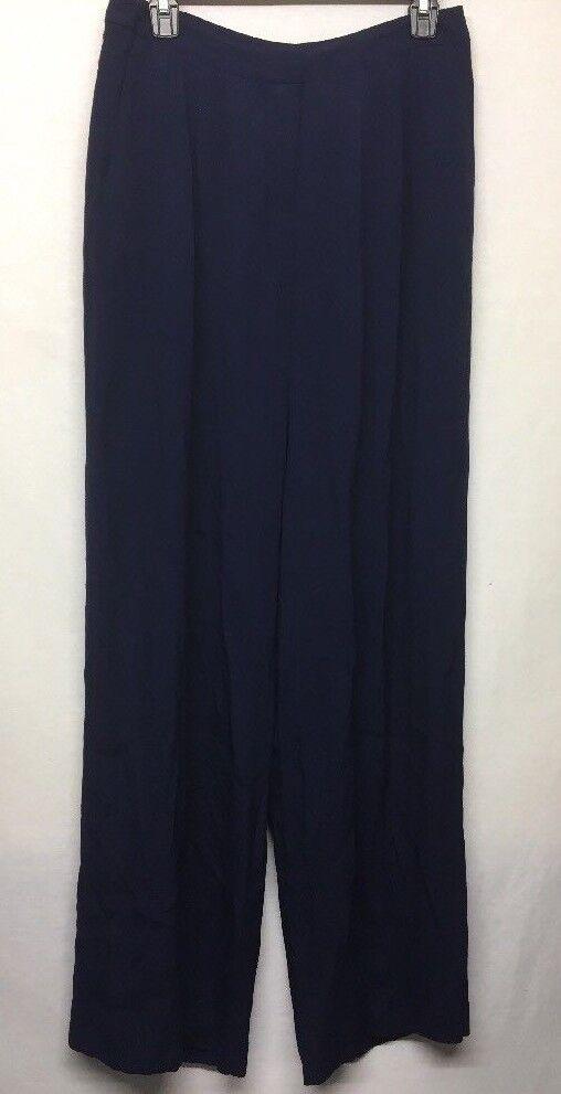 Chelsea 28 Women's Navy bluee Front Pleated Pants Size 0      u4