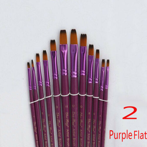 Crafts Artist Tool Watercolor Pen Wooden Handle Nylon Hair Oil Painting Brush