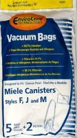 5 Miele Fjm Micro Filtration Vacuum Bags & 2 Filters Brand & Sealed