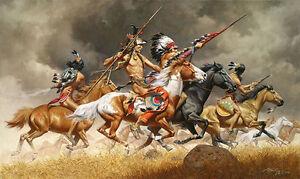 034-Thunder-Across-the-Plains-034-Frank-McCarthy-Western-Indian-Giclee-Canvas-Print