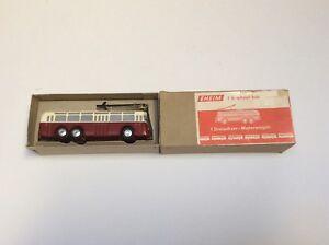 HO-Eheim-Trolley-Bus-Motorwagen-dreiachsig-50er-Jahre-made-Germany-OVP