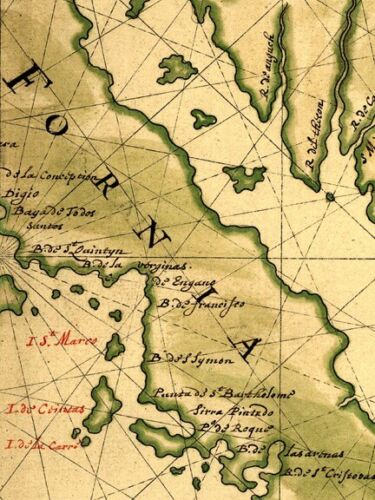 1650s Vinckeboons/' Map of California as an Island 24x36