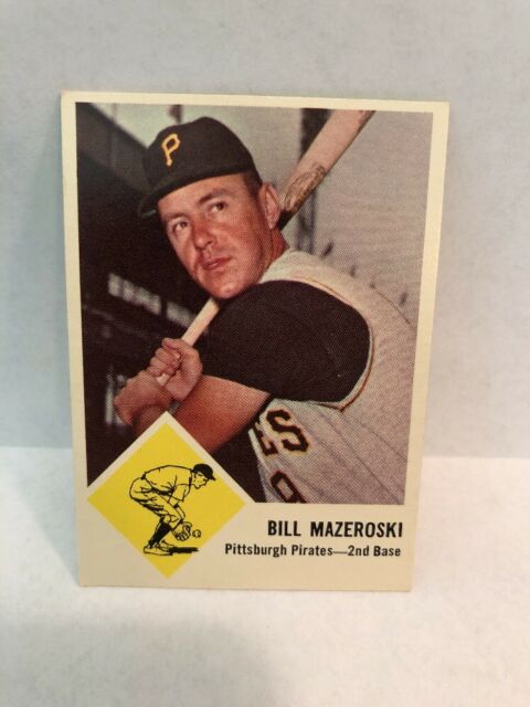 1963 Fleer Bill Mazeroski Pittsburgh Pirates 59 Baseball Card