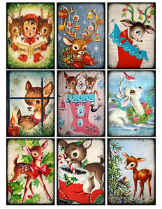 Cute-Rudolph-Christmas-Glossy-Finish-Card-Making-Topper-Crafts