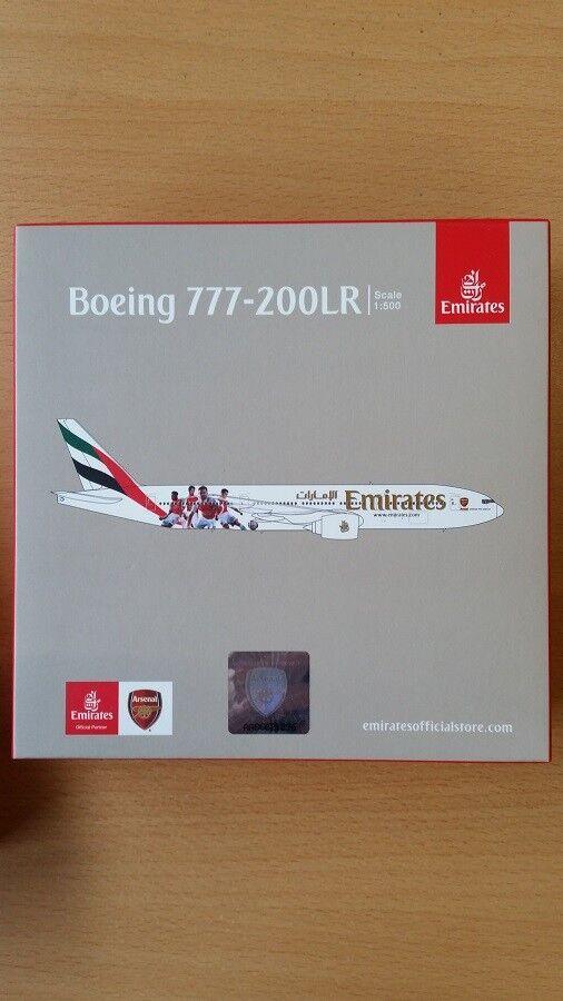 Herpa 529235 Londra-NUOVO - 1/500 Boeing 777-200lr - Emirates-Arsenal Londra-NUOVO 529235 980257