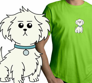 Dog-Animal-Puppy-Cartoon-Pet-Shirt-Unisex-Mens-Tee-Crew-Neck-T-Shirt-Graphic