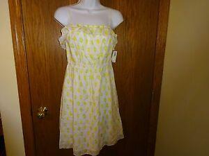 ecab73412de4 NEW WOMEN'S OLD NAVY GREEN WHITE LINEN SUNDRESS SIZE M MSP $29.50   eBay