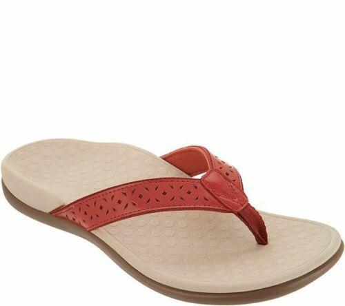 Vionic Thong Sandals Flip Flop Tide Rust 7 M