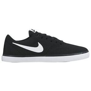 Nike SB CHECK SOLAR CNVS Men's Shoes Black/White 843896 001 Fast Shipping