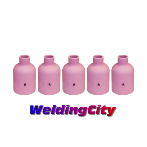 5-pk TIG Welding Large Gas Lens Ceramic Cup 57N75 #6US Seller Fast Ship