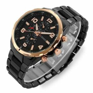 CURREN-Mens-Business-Stainless-Steel-Watches-Dial-Analog-Quartz-Wristwatch-8276
