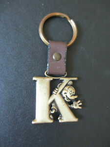 Mickey Mouse Letter K Disney Brass Keychain