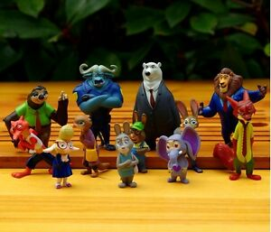 12pcs-Zootopia-Action-Figure-Judy-Hopps-Figurine-Doll-Play-set-Toy-cake-topper