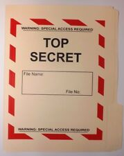 Top Secret Plain Folder NRO DOD FBI DIA NSA CIA MI6 NSC NCIC DCI POLICE