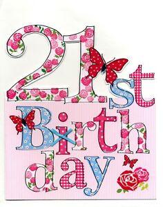 Large happy 21st birthday greeting card 9 x 10 cutting edge image is loading large happy 21st birthday greeting card 9 x m4hsunfo
