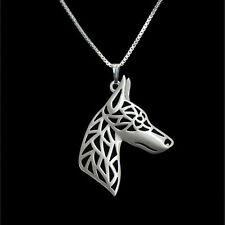 ❤️ Halskette mit Anhänger Dobermann, Doberman Pinscher, Hunde Kopf